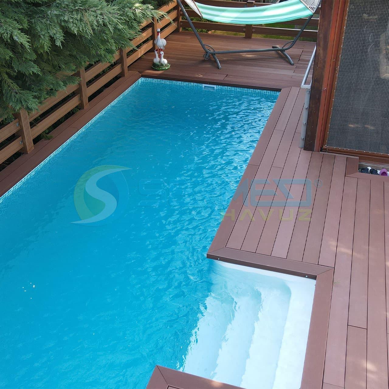 İzmir Çeşme'de Birol Bey'e Fipool Plus Havuz Sermed Havuz tarafından yapıldı.