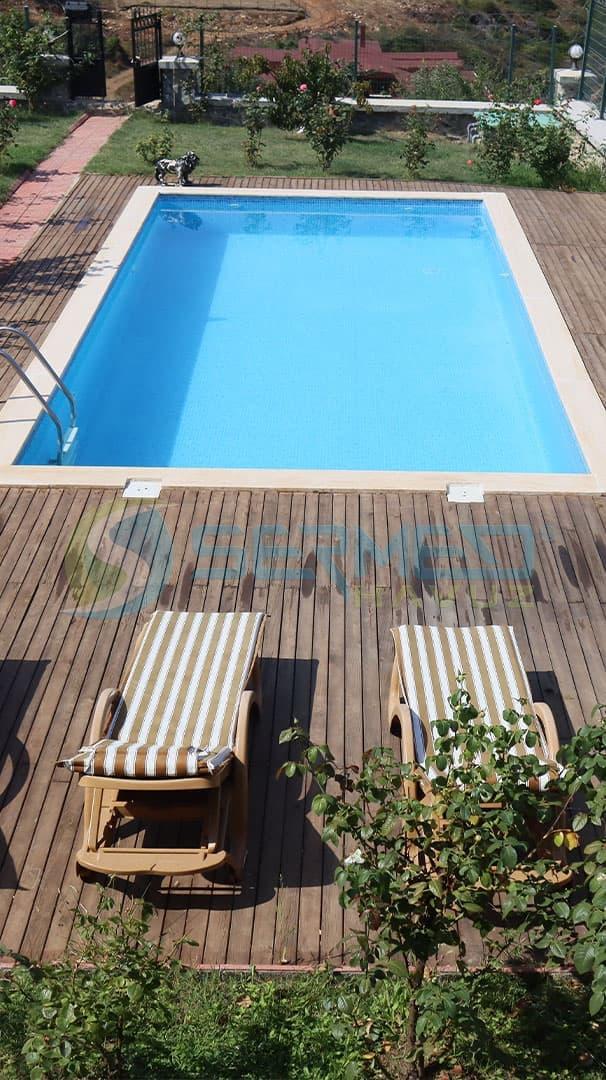 İstanbul'da Ömer Bey'e Fipool Skimmerli Panel havuz Sermed Havuz Firması Tarafından Yapıldı.