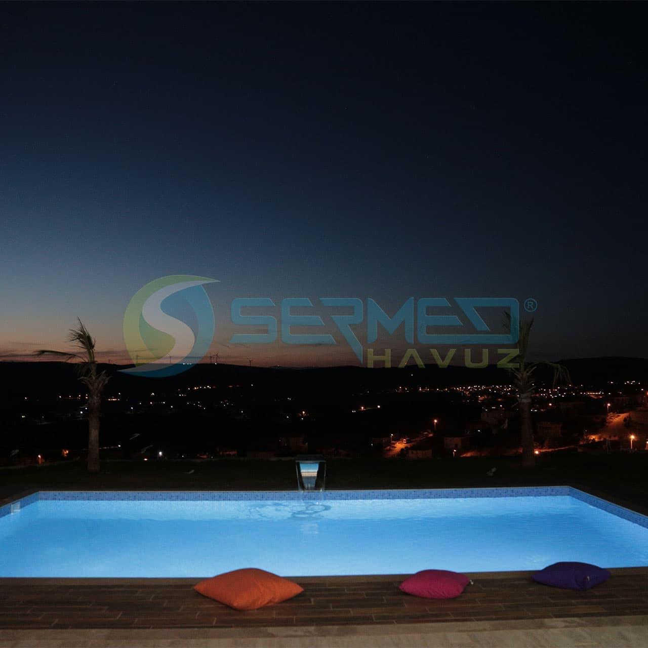 İzmir Fipool Skimmerli Panel Havuz Sermed Havuz Firması Tarafından Yapıldı