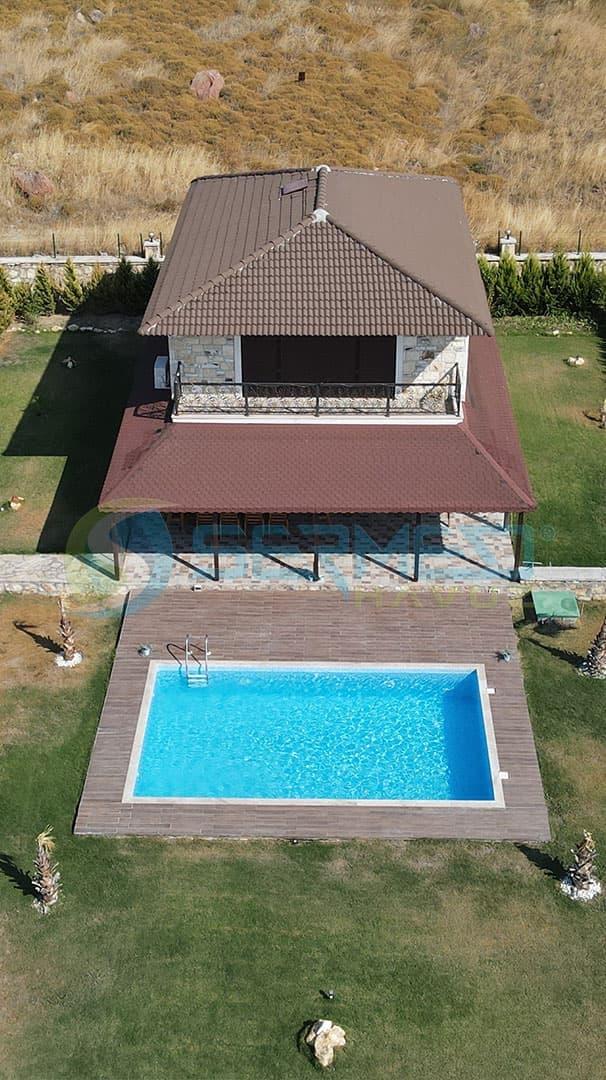 İzmir'den Mahir Bey'e Fipool Skimmerli Panel havuz Sermed Havuz Firması Tarafından Yapıldı.