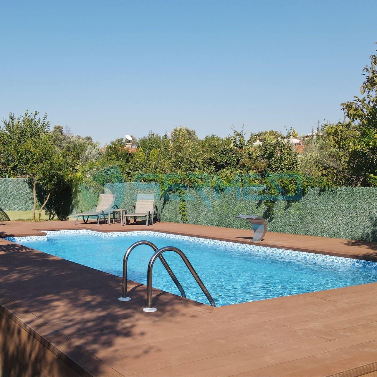 İzmir Gül hanım Fipool Zeminüstü Panel Havuz Sermed Havuz Firması tarafından yapıldı.