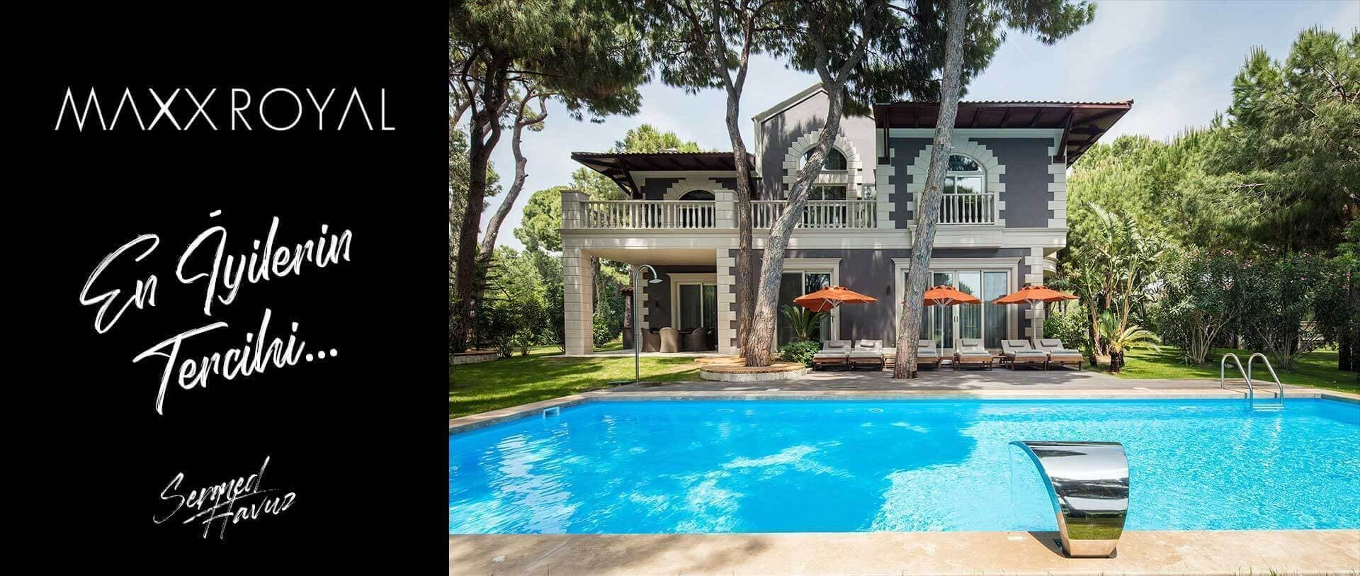 Maxx royal isimli sermed havuz firması tarafından yapılan prefabrik havuz resmi