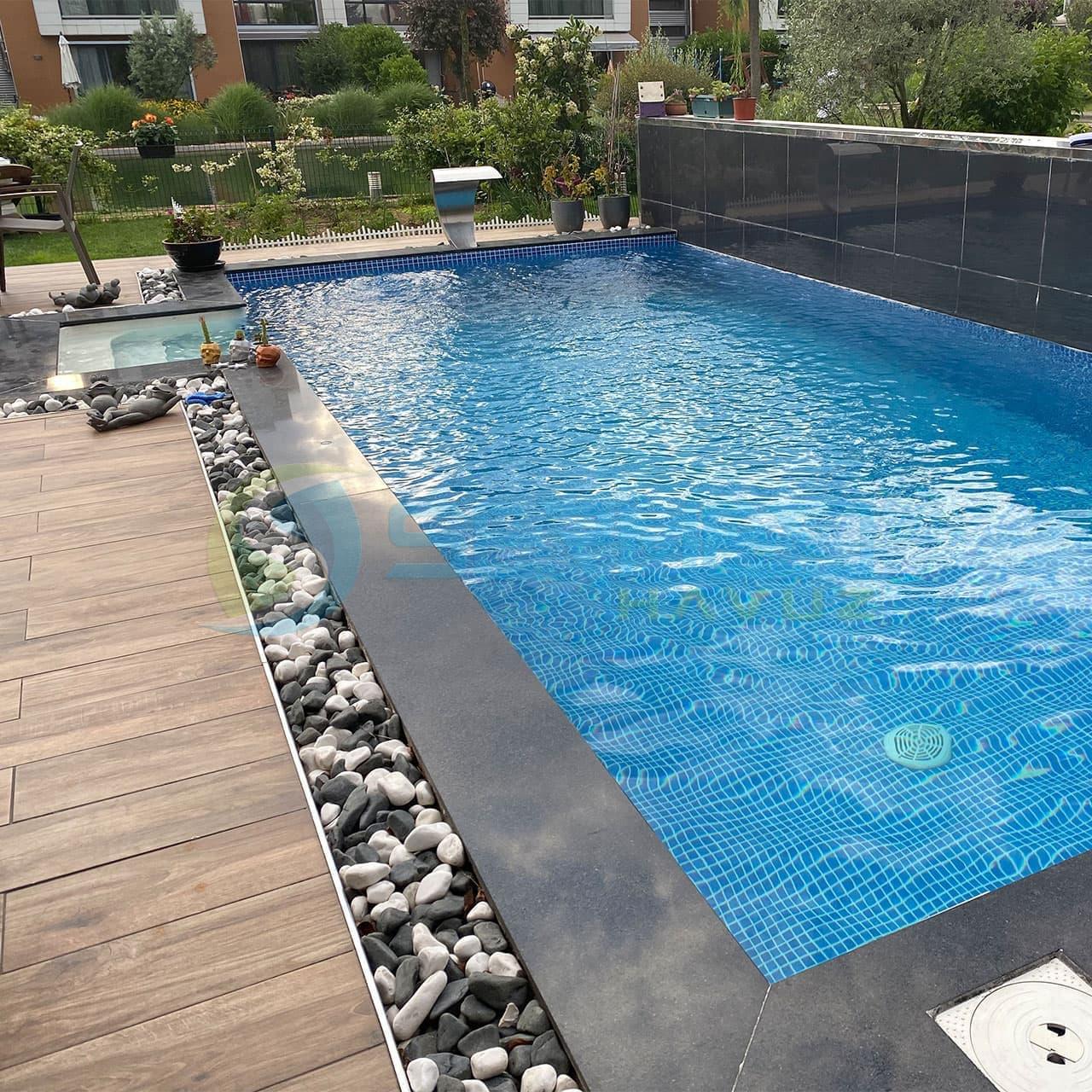 İstanbul Serhat Bey Fipool Taşmalı Panel Havuz uygulaması Sermed Havuz Firması tarafından yapıldı.