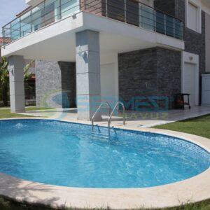 İzmir Maldiv Skimmerli Prefabrik Havuz Sermed Havuz Firması tarafından yapıldı.